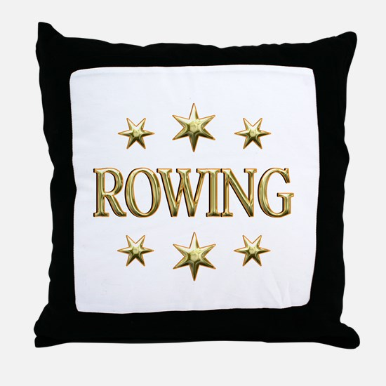 Rowing Stars Throw Pillow