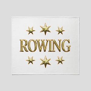 Rowing Stars Throw Blanket