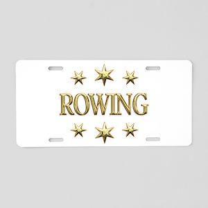 Rowing Stars Aluminum License Plate