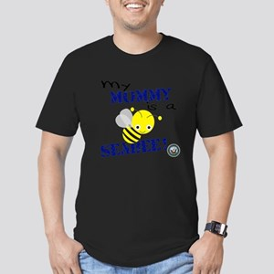 Mommy is a SeaBee Men's Fitted T-Shirt (dark)