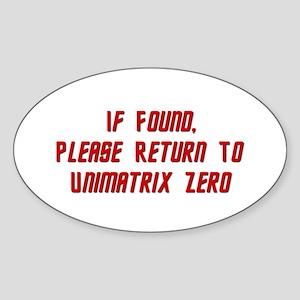 Return To Unimatrix Zero Sticker (Oval)