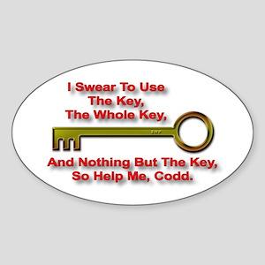 """""""The Key Rule"""" Oval Sticker"""