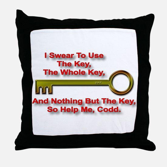 """The Key Rule"" Throw Pillow"