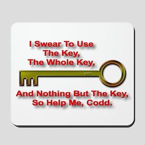 """""""The Key Rule"""" Mousepad"""