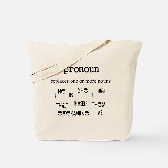 Pronoun Tote Bag