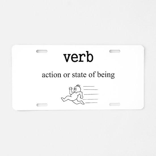 Verb Aluminum License Plate