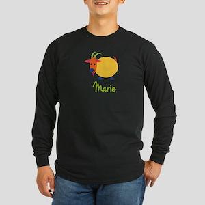 Marie The Capricorn Goat Long Sleeve Dark T-Shirt