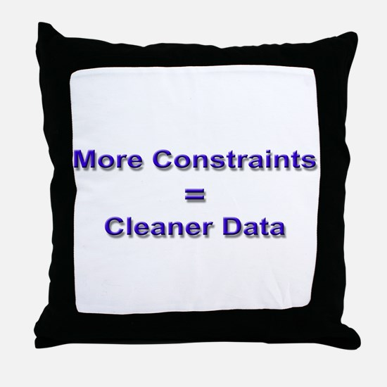 """""""Keep Your Data Clean"""" Throw Pillow"""