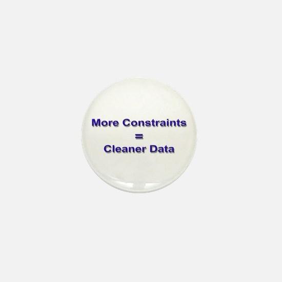 """Keep Your Data Clean"" Mini Button"