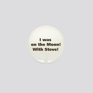 Moon with Steve Mini Button