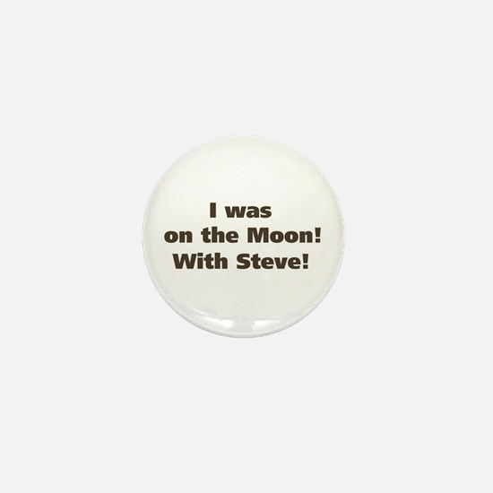Moon with Steve Mini Button