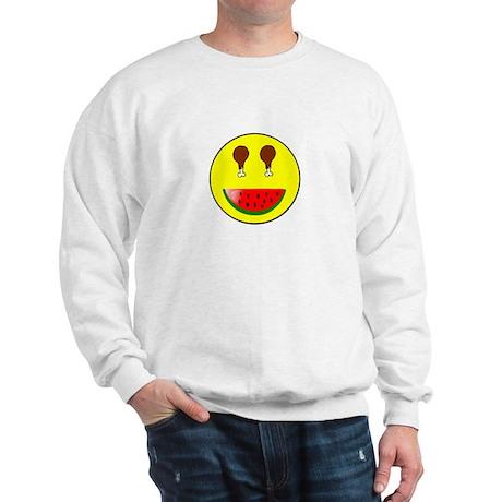 WATERMELON SMILEY FACE Sweatshirt