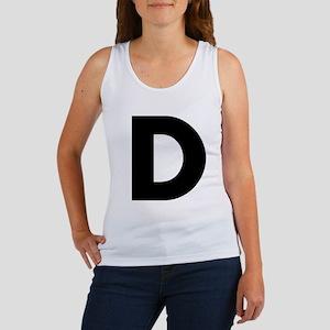 Letter D Women's Tank Top