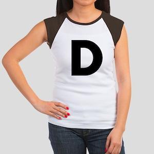 Letter D Women's Cap Sleeve T-Shirt