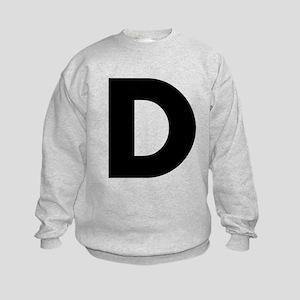 Letter D Kids Sweatshirt