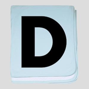 Letter D baby blanket