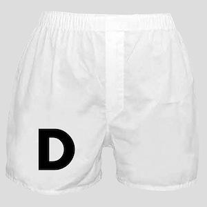 Letter D Boxer Shorts