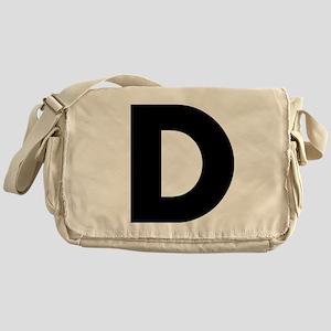 Letter D Messenger Bag