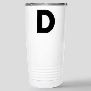 Letter D Stainless Steel Travel Mug