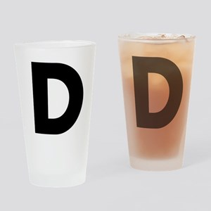 Letter D Drinking Glass