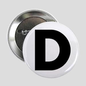 """Letter D 2.25"""" Button"""