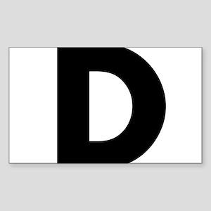 Letter D Sticker (Rectangle)