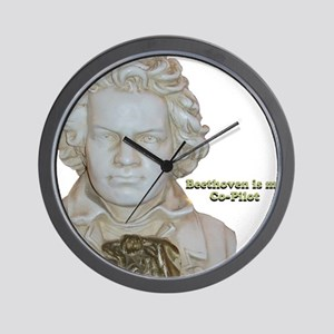 """Beethoven is my Co-Pilot"" Wall Clock"