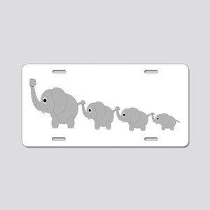Elephants Design Aluminum License Plate