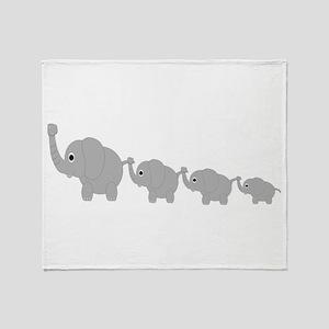 Elephants Design Throw Blanket