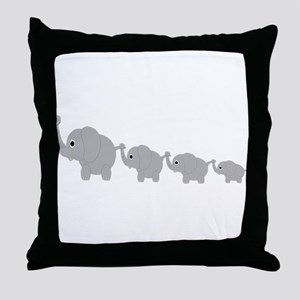 Elephants Design Throw Pillow