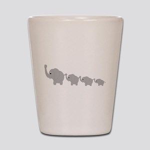 Elephants Design Shot Glass