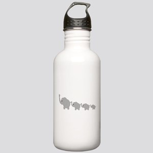 Elephants Design Stainless Water Bottle 1.0L