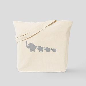 Elephants Design Tote Bag