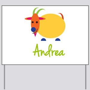 Andrea The Capricorn Goat Yard Sign