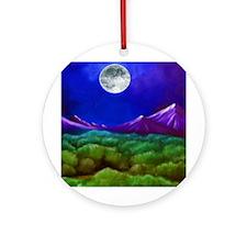Moon Mountain Ornament (Round)