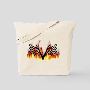 Racing Flag Fire 1 Tote Bag