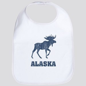 Retro Alaska Moose Bib