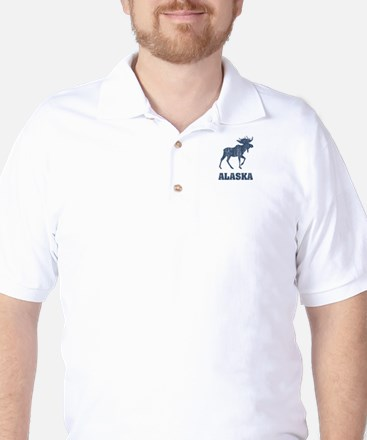Retro Alaska Moose Golf Shirt