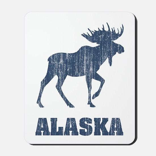 Retro Alaska Moose Mousepad