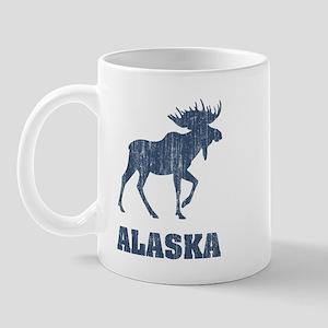 Retro Alaska Moose Mug