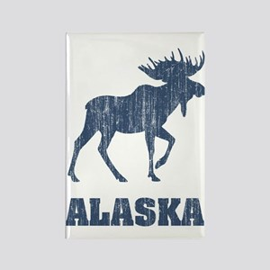 Retro Alaska Moose Rectangle Magnet