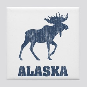 Retro Alaska Moose Tile Coaster