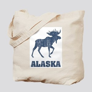 Retro Alaska Moose Tote Bag