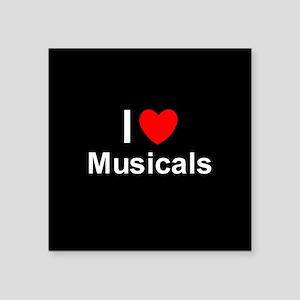 """Musicals Square Sticker 3"""" x 3"""""""