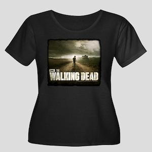 The Walking Dead Farm Women's Plus Size Scoop Neck
