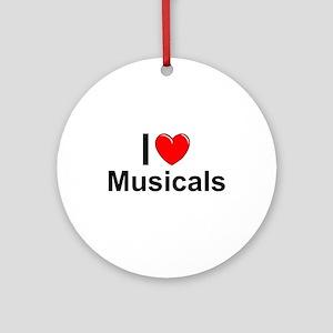 Musicals Round Ornament