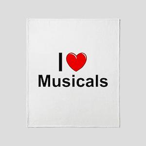 Musicals Throw Blanket