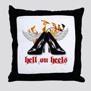 Hell on Heels Throw Pillow