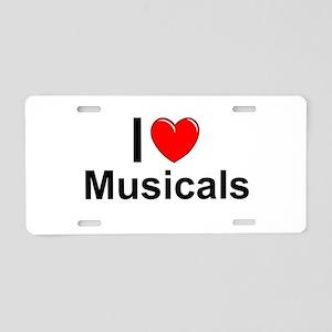 Musicals Aluminum License Plate
