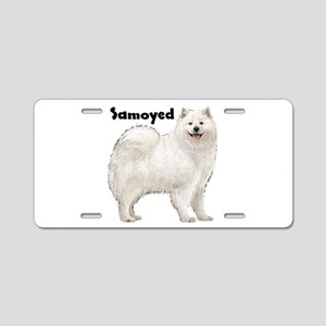 Samoyed Aluminum License Plate